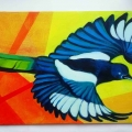 My little Magpie 40 cm x 20 cm